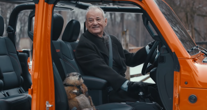 Bill Murray Jeeppel csapatja